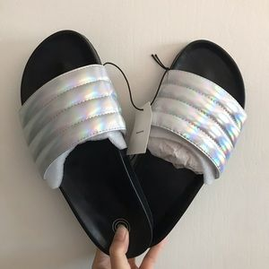 NWT UO holographic pool slides (8)